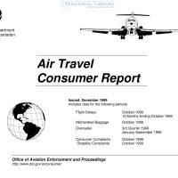 FAA – Air Travel Consumer Report – December 1999