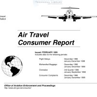 FAA – Air Travel Consumer Report – February 1999