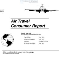 FAA – Air Travel Consumer Report – July 1999