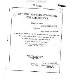 naca-tn-1070-an-empirical-equation-for-the-coefficient-of-heat-transfer-to-a-flat-surface-from-a-plane-heated-air-jet-directed-1