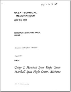 NASA TM-X-73305 Astronautics Structures Manual Volume I