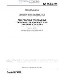 TO-00-25-260 Asset Marking and Tracking Item Unique Identification (IUID) Marking Procedures